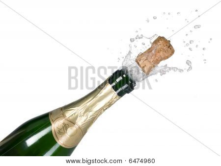 Explosion Of Green Champagne Bottle Cork