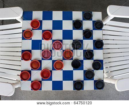 Checkerboard Game.