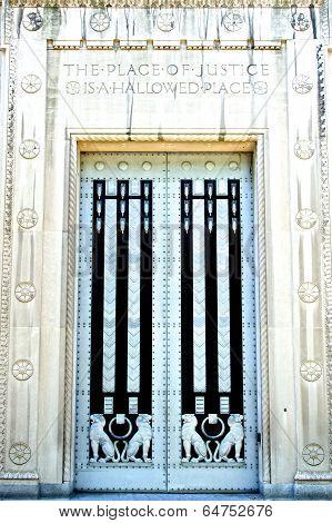 Doors Of The Department Of Justice