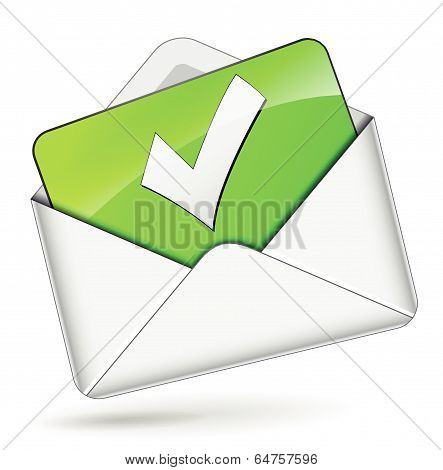 Vector Check Mail Envelope