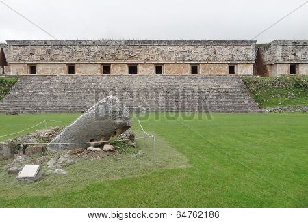 Mayan Temple In Uxmal
