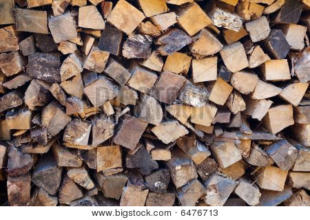 Pile of wood fire-wood