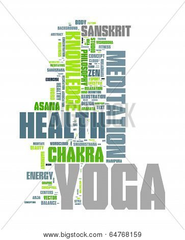 YOGA. Word collage