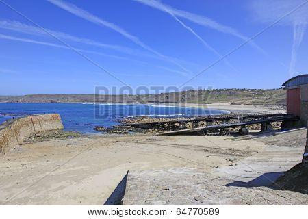 Life Boat Ramp Sennen Cove Cornwall