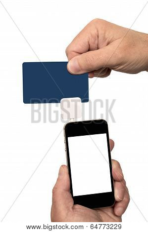 Swiping Card With Card Reader