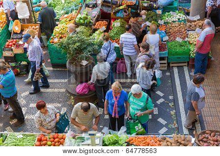 Vegetable Market Famous Mercado Dos Lavradores Of Funchal, Madeira