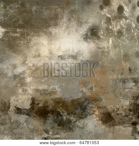 art abstract monochrome acrylic background in beige, black, grey and brown colors