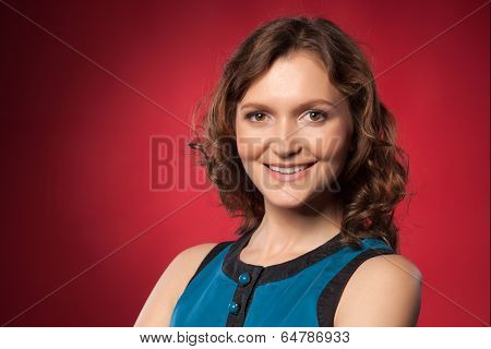 Portrait Of A Pretty Young Woman