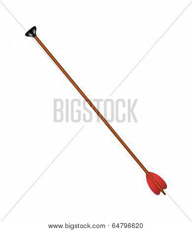 Bow arrow with black sucker tip