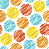 abstract seamless scandinavian colorful lined rounds wall background pattern design poster