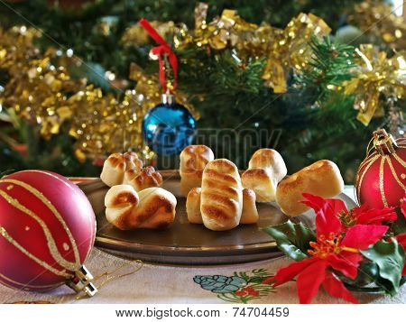 Christmas sweets and decoration