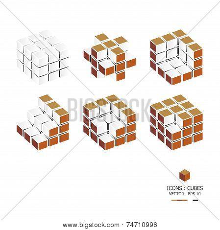 Icons Cubes Set