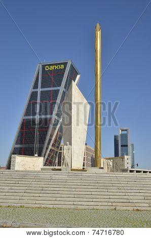 Memorial Monument To Calvo Sotelo And One Kio Tower