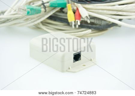 Splitter Place In Front Of Stack Cable For Computer