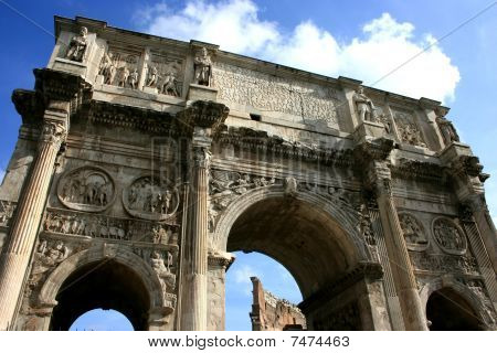 Famous Arch of Constantine in Rome, Italy poster
