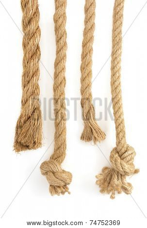 ship ropes isolated on white background