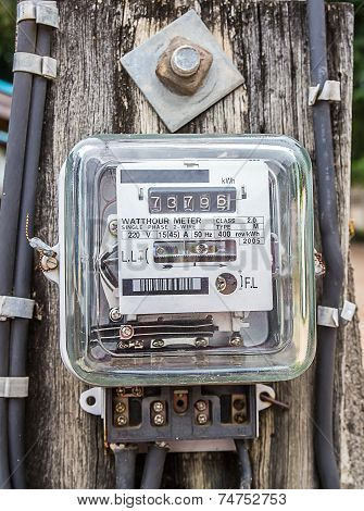 Watt Hour Electric Meter Measurement Tool Home Use Front View