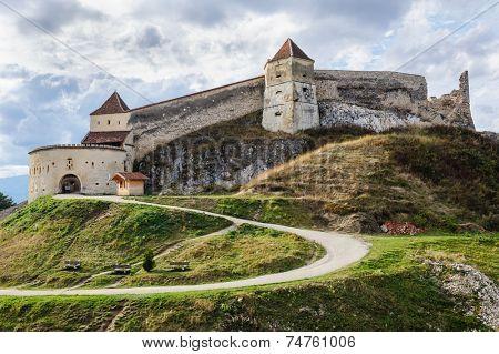 Medieval fortress in Rasnov, Transylvania, Brasov, Romania poster