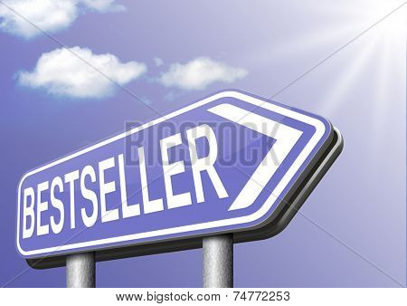 bestseller top product, most wanted item best seller book poster