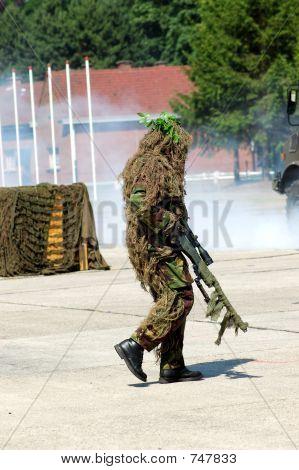 Military Intervention, Camouflaged Solder.
