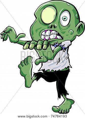 Cartoon zombie stalking