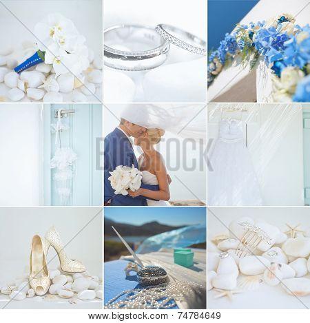 Collage Of Wedding Details