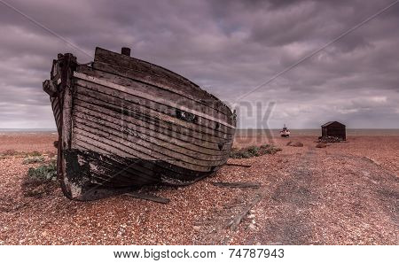 Dungeness Hulk On The Shingle