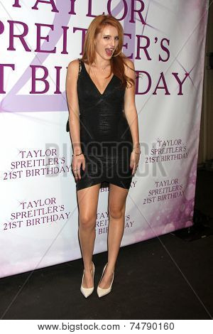 LOS ANGELES - OCT 25:  Bella Thorne at the Taylor Spreitler's 21st Birthday Party at the CBS Radford Studios on October 25, 2014 in Studio City, CA