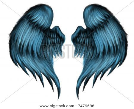 Blue Feather Wings