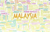 Malaysia Kuala Lumpur as a Abstract Concept Art poster