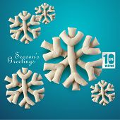 Abstract Clay Christmas Snowflakes. poster