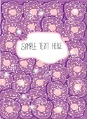 decorative background with lilac flowers dotted with snowflakes and text,lilac flowers poster