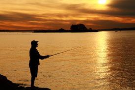 Sunset Fishing (21 MP)