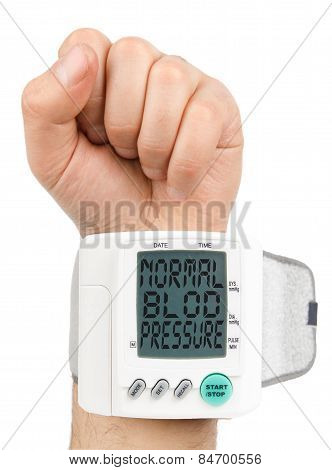 Normal blood pressure digital monitor
