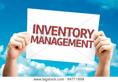 Inventory Management card with sky background