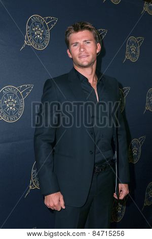 LOS ANGELES - FEB 20:  Scott Eastwood at the Publicist Guild Luncheon at a Beverly Hilton Hotel on February 20, 2015 in Beverly Hills, CA