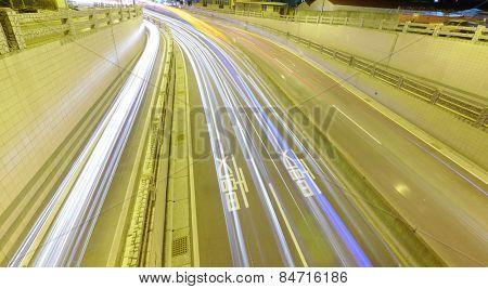 Car driving to underground