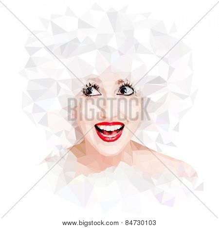 Vector Polygonal Portrait
