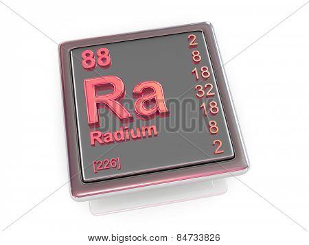 Radium. Chemical element. 3d