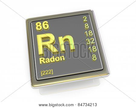Radon. Chemical element. 3d