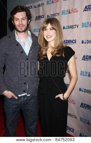 LOS ANGELES - FEB 25:  Adam Brody, Lisa Joyce at the