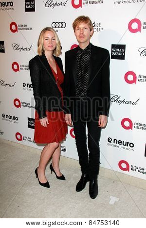 LOS ANGELES - FEB 22:  Beck at the Elton John Oscar Party 2015 at the City Of West Hollywood Park on February 22, 2015 in West Hollywood, CA