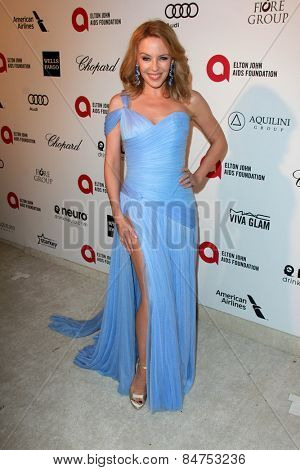 LOS ANGELES - FEB 22:  Kylie Minogue at the Elton John Oscar Party 2015 at the City Of West Hollywood Park on February 22, 2015 in West Hollywood, CA