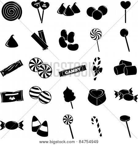 candy symbols set