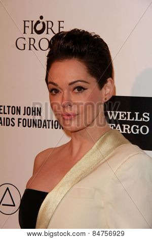 LOS ANGELES - FEB 22:  Rose McGowan at the Elton John Oscar Party 2015 at the City Of West Hollywood Park on February 22, 2015 in West Hollywood, CA