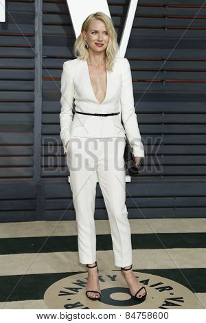 LOS ANGELES - FEB 22:  Naomi Watts at the Vanity Fair Oscar Party 2015 at the Wallis Annenberg Center for the Performing Arts on February 22, 2015 in Beverly Hills, CA