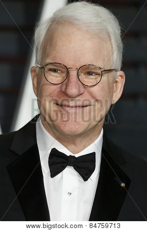 LOS ANGELES - FEB 22:  Steve Martin at the Vanity Fair Oscar Party 2015 at the Wallis Annenberg Center for the Performing Arts on February 22, 2015 in Beverly Hills, CA