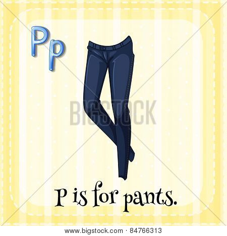 Alphabet P is for pants