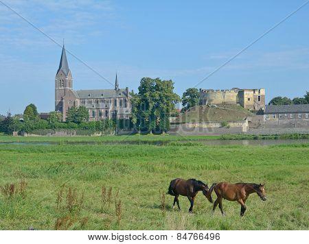 Kessel,Maas River,Limbourg,Netherlands