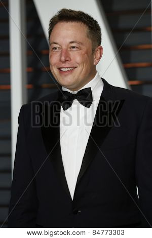 LOS ANGELES - FEB 22:  Elon Musk at the Vanity Fair Oscar Party 2015 at the Wallis Annenberg Center for the Performing Arts on February 22, 2015 in Beverly Hills, CA